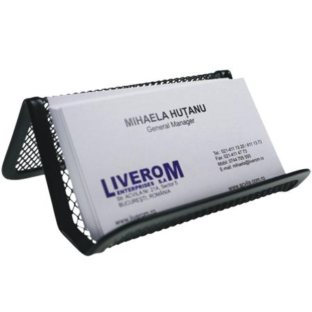 Suport metalic mesh pentru carti de vizita