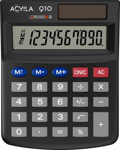 Calculator 10 digit Acvila 910