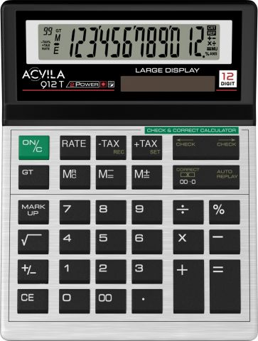 Calculator 12 digit TAX Acvila 912T