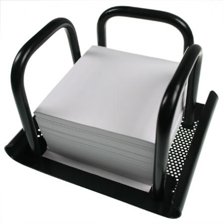 Suport metalic mesh pentru cub de hartie Office
