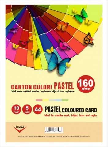 Carton color 160 g/mp culori pastel
