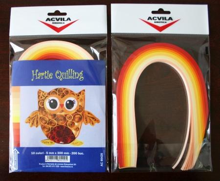 Hartie Quilling - culori calde