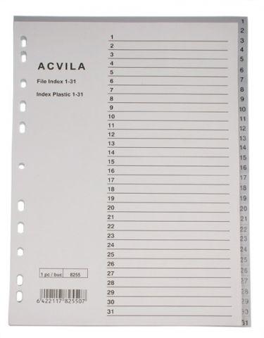 Index plastic A4 numeric 1-31