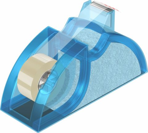 Dispenser banda adeziva 19mm x 33m Acvila albastru