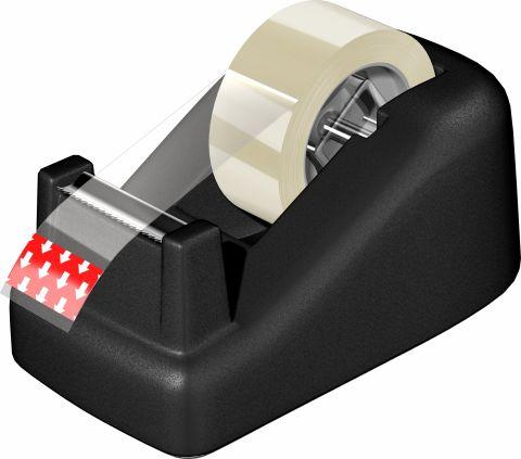 Dispenser banda adeziva 12mm x 10m Acvila negru